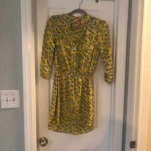 Eight Sixty yellow shirt dress